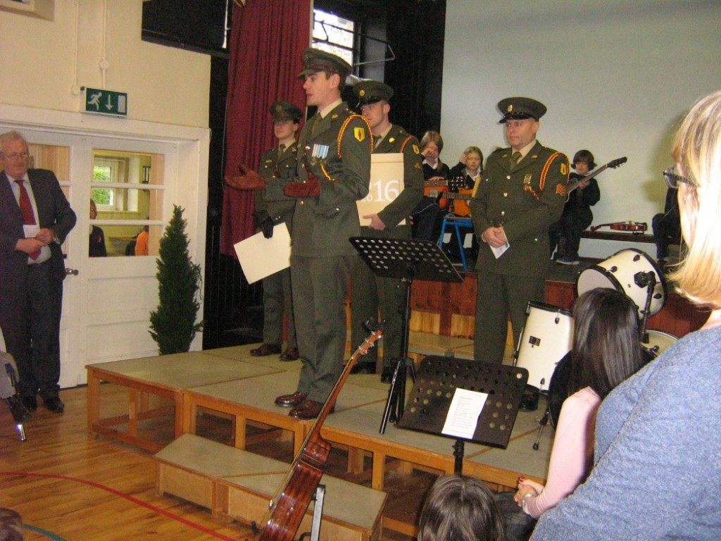 Receiving the National Flag