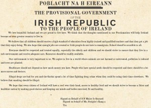 Proclamation by S N Muire Is Gearard